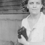 My mother (above, right) 1931, age 16, recently married to my dad. Mom taught me about cats.